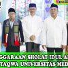 Penyelenggaraan Sholat Idul Adha 1440 H di Masjid Taqwa Universitas Medan Area