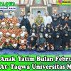 Santunan Anak Yatim di Masjid Kampus II Universitas Medan Area