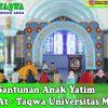Santunan untuk Anak Yatim di Masjid At-Taqwa Universitas Medan Area
